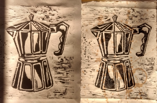 Holzschnitt kaffee17